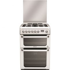 Hotpoint HUD61P 60cm Dual Fuel Double ,Catalytic Liners in both Oven , Programmable Timer