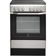 Indesit I6VV2AXUK 60cm Single Oven Electric Cooker with Ceramic Hob
