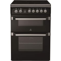 Indesit ID60C2KS Innovative 60cm Ceramic Fan Double Oven with timer